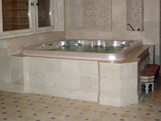 Гидромассажный бассейн спа Venture, эффектная установка в едином стиле с турецкой баней.