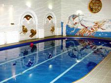 Сборный плавательный бассейн в загородном доме