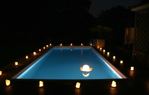 Подсветка бассейна своими руками 61