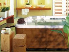 Гидромассажный бассейн спа Chairman ll в загородном доме.