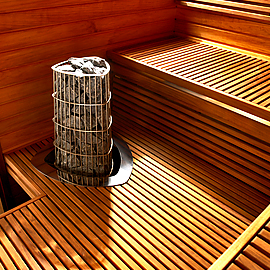 Kivi, установка каменки в сауне