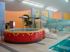 Детский бассейн с водопадом «Зонтик» и горка