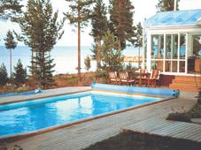 Сборный бассейн Folkpool с плавающим покрытием
